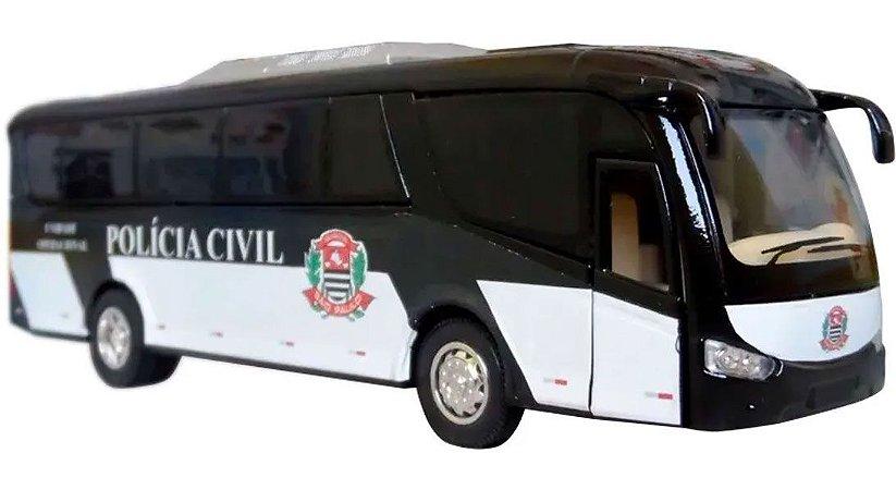 Oferta - miniatura Ônibus Polícia Civil Sp - Em Metal