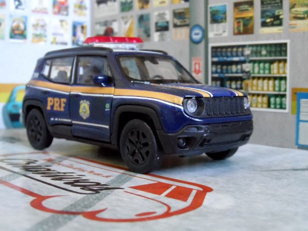 Oferta - miniatura Jeep Renegade Prf Polícia Rodoviária Federal