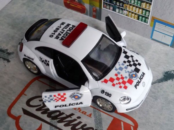 Oferta - miniatura Vw New Beetle Fusca Polícia Militar Pm Sp Atual