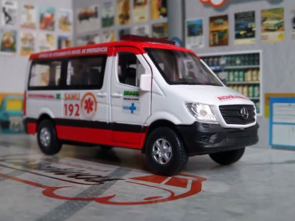 Oferta - miniatura Sprinter Ambulância Samu