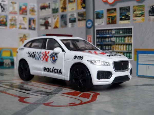 Oferta - miniatura Jaguar F-pace Polícia Militar Sp Atual - Em Metal