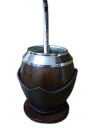 Conjunto chimarrão cuia coquinho e bomba aço inox