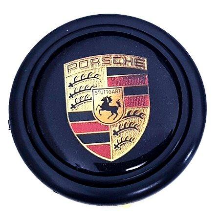 Botão De Buzina P/ Volante Esportivo Lotse Emblema Porsche Padrão 55mm