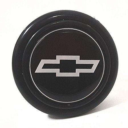 Botão De Buzina P/ Volante Esportivo Lotse Emblema Chevrolet Padrão 55mm