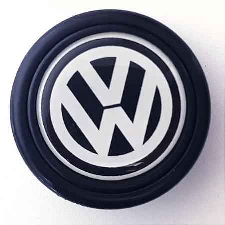 Botão De Buzina P Volante Esportivo Lotse Emblema Volkswagen Padrão 55mm