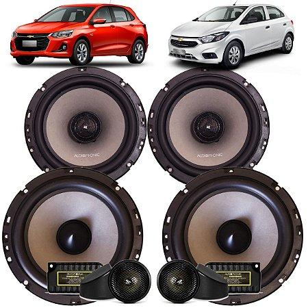 Kit Falante Audiophonic Sensation 240w Rms Chevrolet Onix Som Automotivo
