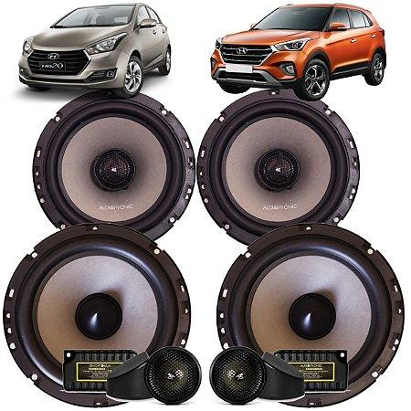 Kit Falante Audiophonic Sensation 240w Rms Creta Hb20 Som Automotivo