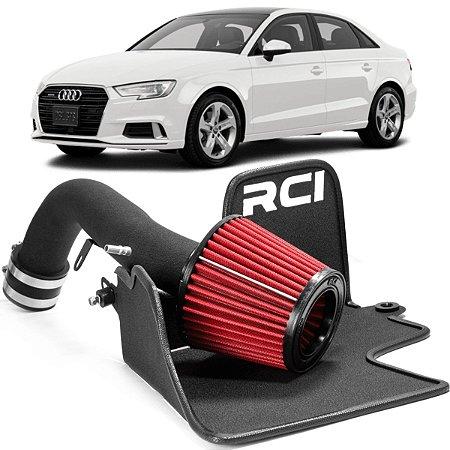 Kit Intake Race Chrome + Filtro De Ar Esportivo Rci066 Audi A3 1.8 e 2.0 Tsi 2014 em diante