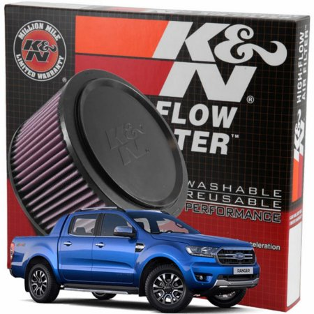 Filtro De Ar Esportivo K&n Ford Ranger Motor Diesel Flex 2.2 2.5 3.2 Kn E-0662