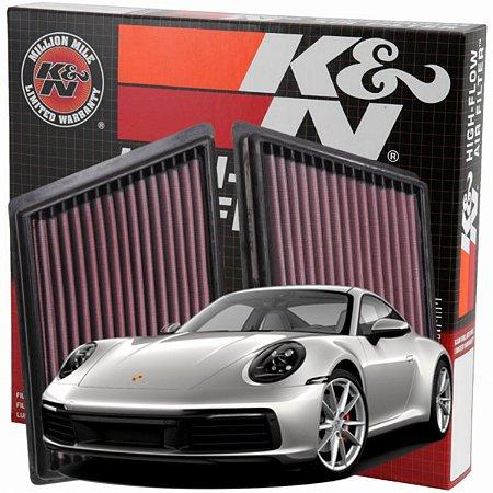 Filtro De Ar Esportivo Original K&n Porsche 911 991.2 992 Motor 3.0 33-3153