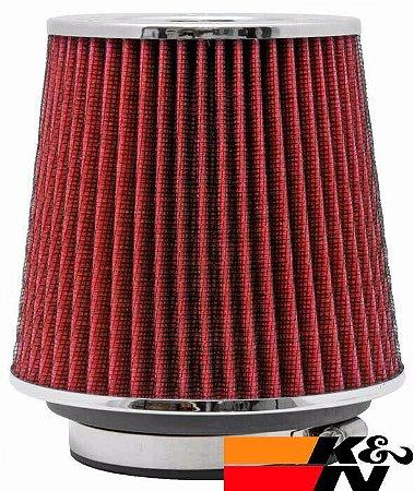 Filtro De Ar Esportivo K&N Original Duplo Fluxo RG1001RD Vermelho + Adesivo