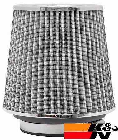 Filtro De Ar Esportivo K&N Duplo Fluxo RG1001WT Cinza - Original