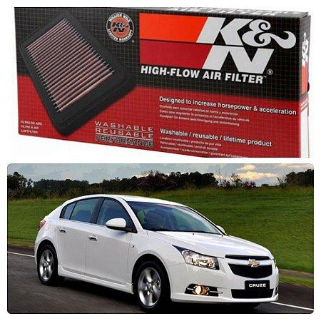 Filtro De Ar Inbox K&n Kn - Gm Chevrolet Cruze 1.8 16v 33-2964
