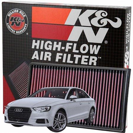 Filtro De Ar Esportivo K&n Inbox Original Audi S3 8V 2.0 TFSI 280cv / 286cv DE 2013 a 2016