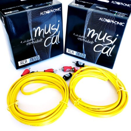 Kit 2 Cabos Rca Audiophonic Need 5 Metros P/ Amplificador