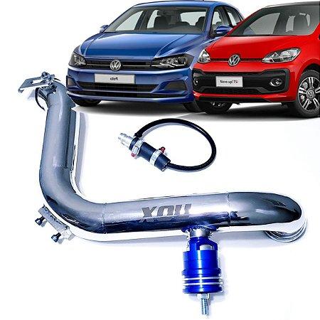 Kit Pressurização Inox Nox + Válvula Espirro Azul Vw Up Tsi Polo TSi Virtus TSi