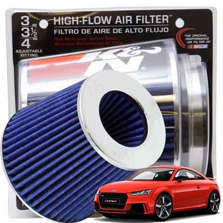 Filtro De Ar Esportivo K&N Original Duplo Fluxo RG1001 BL Azul + Adesivo