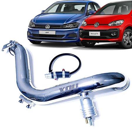 Kit Pressurização Inox Nox + Valvula Espirro Cinza Vw Up Tsi Polo TSi Virtus TSi T-Cross Nivus