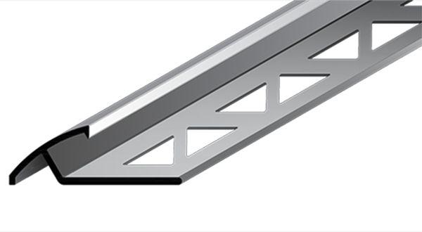 Perfil Arremate em Alumínio de espessura de 11 mm com acabamento natural.