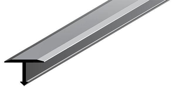 Perfil Transitório em Alumínio de espessura de 25 mm com acabamento natural.