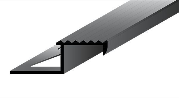 Perfil Bordas em Alumínio de espessura de 11 mm com acabamento natural.