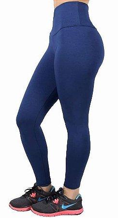 a3c3ececf Calça Legging Fuseau Lisa Azul Marinho - Celeiro Fitness Atacado