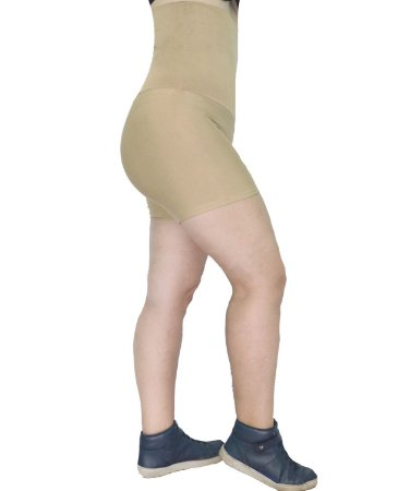Short Cintura Alta Modeladora Fitness Cor Chocolate (Nude)