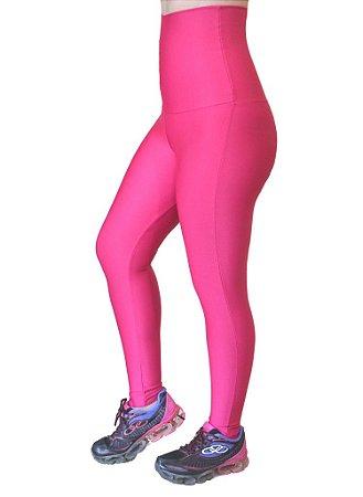 Calça Legging Cintura Alta Modeladora Sem Pezinho Rosa