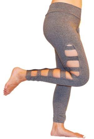 1a6ba508e2 Calça Legging Rasgada Cinza Mescla - Celeiro Fitness Atacado