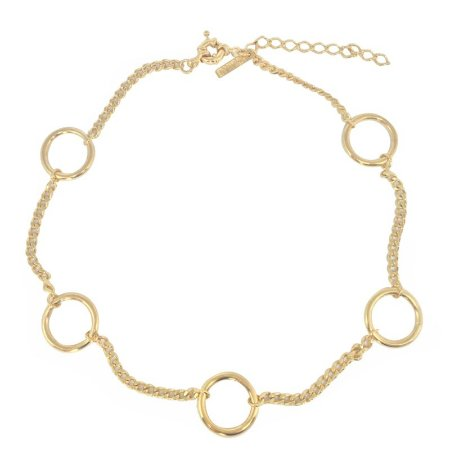 Choker Hoops on Chain dourado