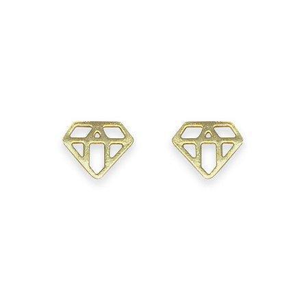 Brinco Diamante dourado