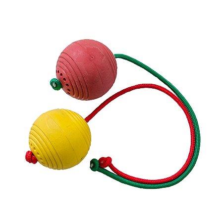 Bola de Borracha Maciça Grande com Corda de Nylon