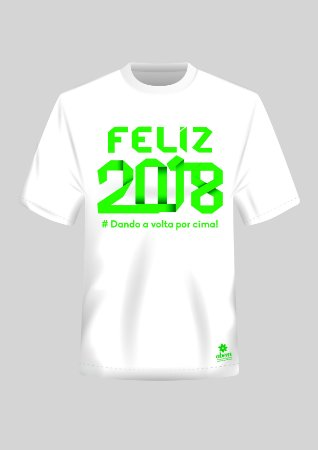 Camiseta Feliz 2018 Verde