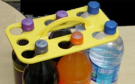 Transporte para até 6 garrafas pet