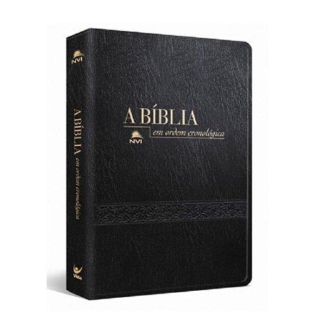 Bíblia NVI em Ordem Cronológica cp Luxo Preta