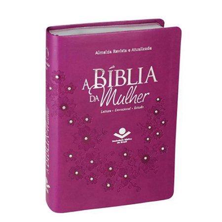 A BÍBLIA DA MULHER - LEITURA - DEVOCIONAL - ESTUDO - ARA - VINHO - SBB