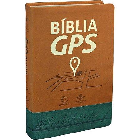 Bíblia GPS - NTLH - Capa castanho e verde