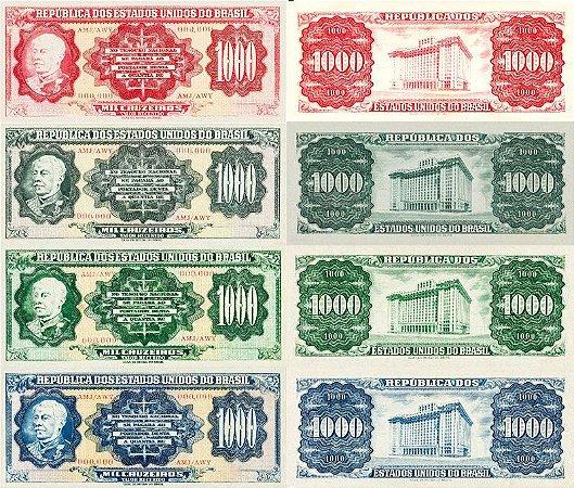 Ensaio de Cédulas de 1.000 Cruzeiros - Não circulada e não impressa