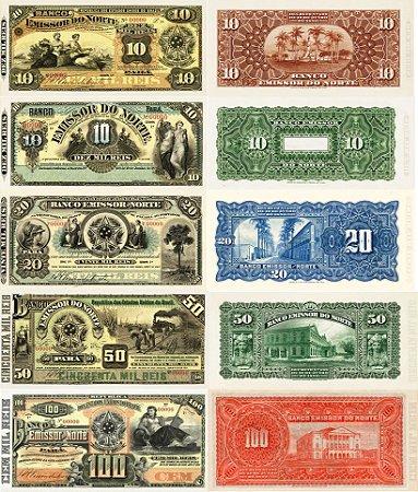 Cédulas de Reis do Banco Emissor do Norte (Pará) - Réplicas