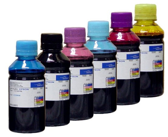 Kit 200ml Tinta Sensient Bulk Ink Epson T50 | R290 | L800 | 1430