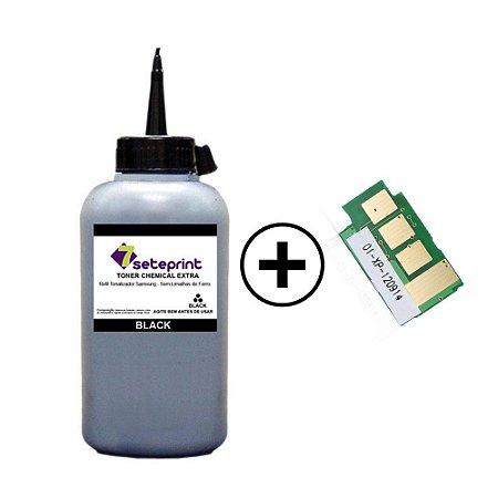 Refil de Toner + Chip Samsung D101 | D101s | D101L - ML2160 | ML2165 | SCX3400 | SCX3405 | 60g