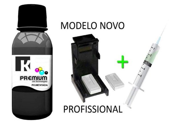 Tinta Pigmentada Canon + Snap Fill para Cartuchos PG 140   PG 145   PG 210