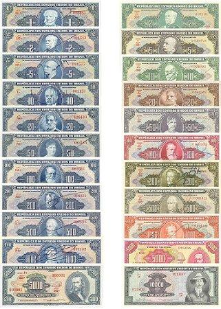 Cédulas Cruzeiros 1ª E 2ª Estampas Autografadas - Réplicas