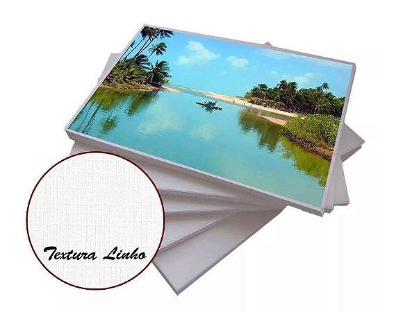 Papel Fotográfico Textura Linho 200g - A4 com 20 Folhas