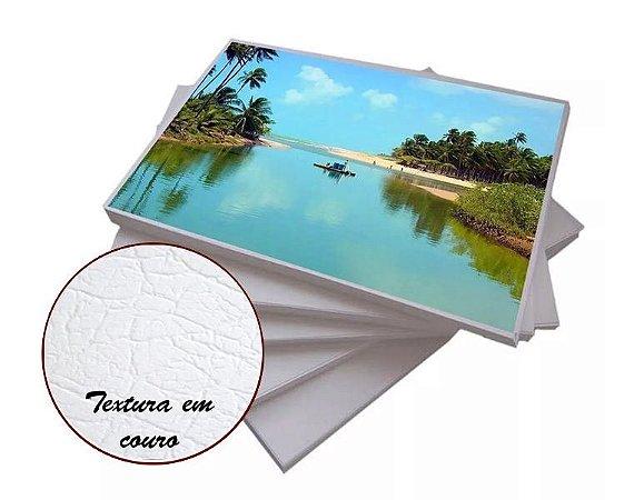 Papel Fotográfico Textura Couro 200g - A4 com 20 Folhas