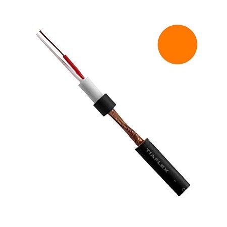 Cabo Microfone Balanceado Sonorização AF(E) 2 x 0,20mm - Laranja rolo com 100 metros
