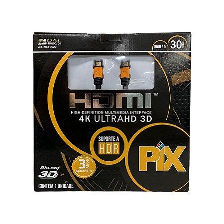 Cabo HDMI Plus 2.0 4K HDR 19P 30M Com Repetidor