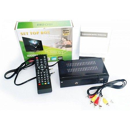 Conversor Digital Hdtv De Tv Set Top  C/ Gravador