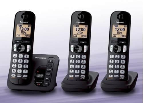 Telefone Panasonic S/fio Kx-tg 4023 - 03 Bases + Secretaria