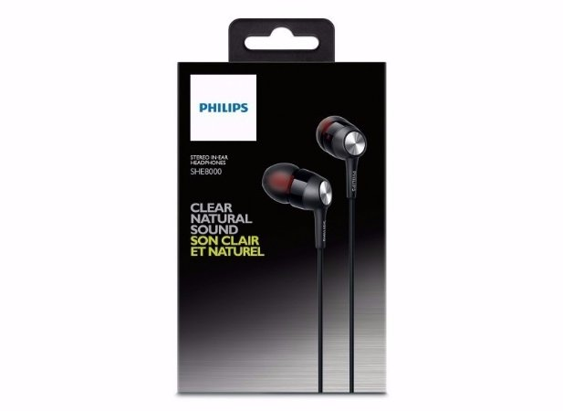 Fone De Ouvido Philips Intra-auricular She8000 Profissional